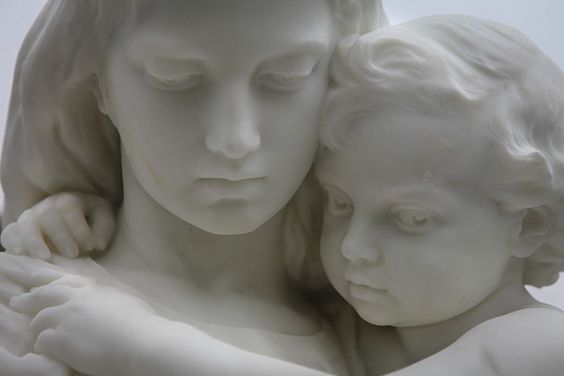 Sculpture in marble by W. H. Thornycroft (1850 - 1925):