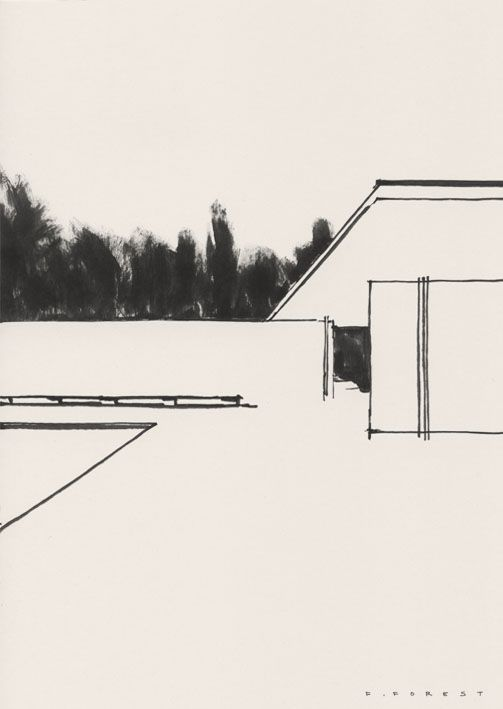 Fredericforest Drawing Architecture Minimal Forest Art