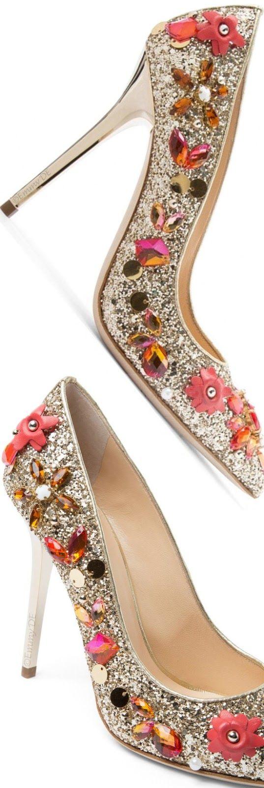 Brilliant Luxury by Emmy DE ♦Ballin 'Iris Red' Pumps