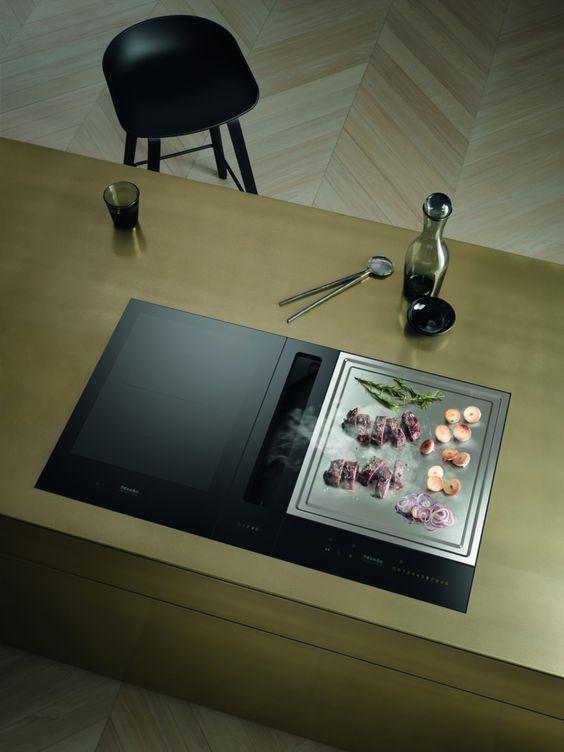 Miele inductiekookplaat met TeppanYaki Küche Pinterest - küche mit grill