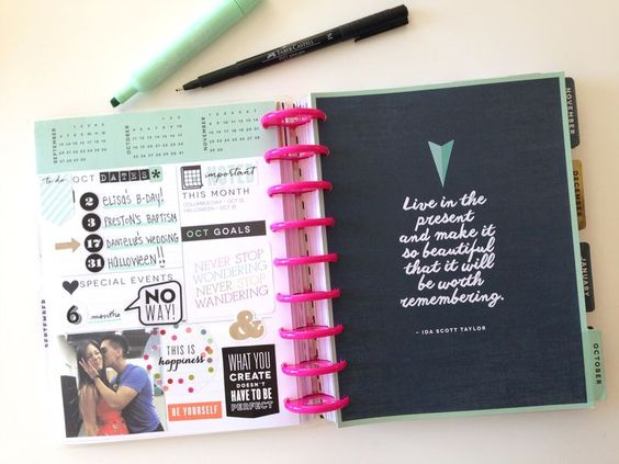 Love the way she uses her planner