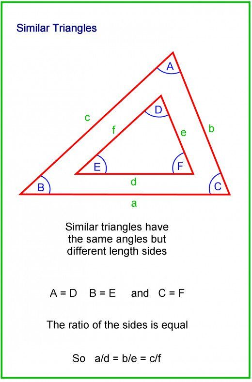 How To Calculate The Sides And Angles Of Triangles Similar Triangles Math Word Problems Common Core Math Fractions