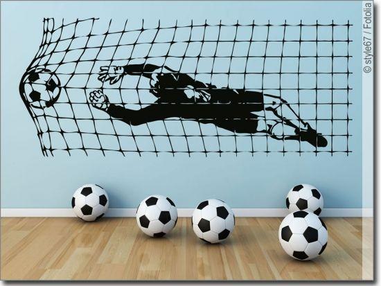 Wandtattoo Fussballtor In 2019 Kinder Zimmer Fussball