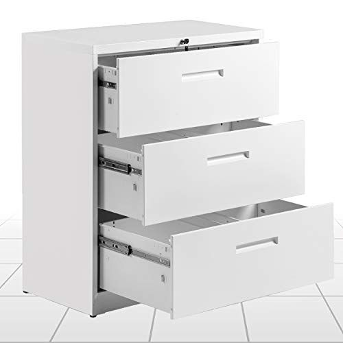 Locking File Cabinet 2 Drawer Lateral Filing Cabinet Metal Key Lock 3 Drawer Office Horizontal Steel Organizer 3 Drawe Organize Drawers Filing Cabinet Cabinet