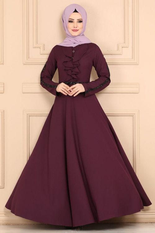 Modaselvim Elbise Onu Firfirli Elbise 81660bn105 Murdum Pakaian Modis Pakaian