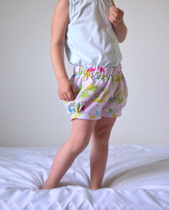 Bubble Shorts size 3T Flamingo print ready-to-ship by HungieGungie