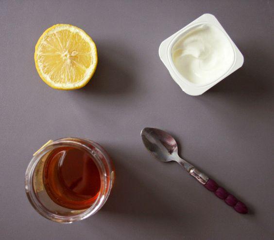 masque visage au yaourt miel et citron lampes suspendues nature et contours. Black Bedroom Furniture Sets. Home Design Ideas
