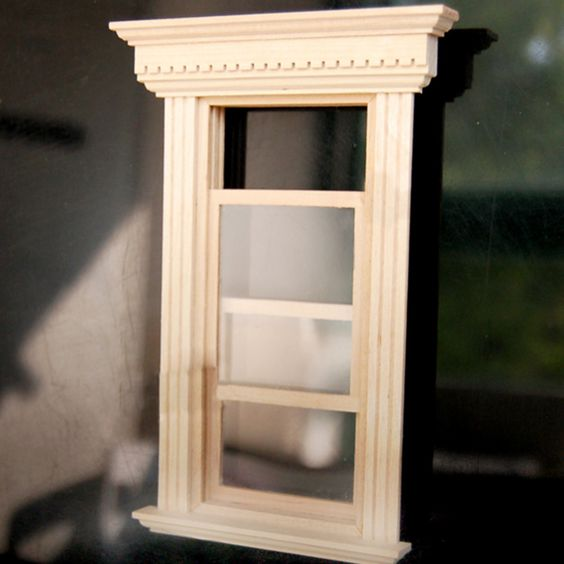 Pas cher 1 12 maison de poup e miniature meubles de maison for Acheter des fenetres