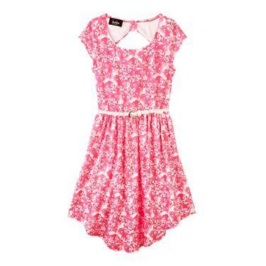 by&by Girl Byer Knit Keyhole Back Print Dress - JCPenney