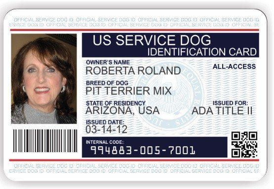 Service Dog Card Template New Service Animal Id Cards Service Dog Vest And Id Card Dog Id Id Card Template Dog Identification
