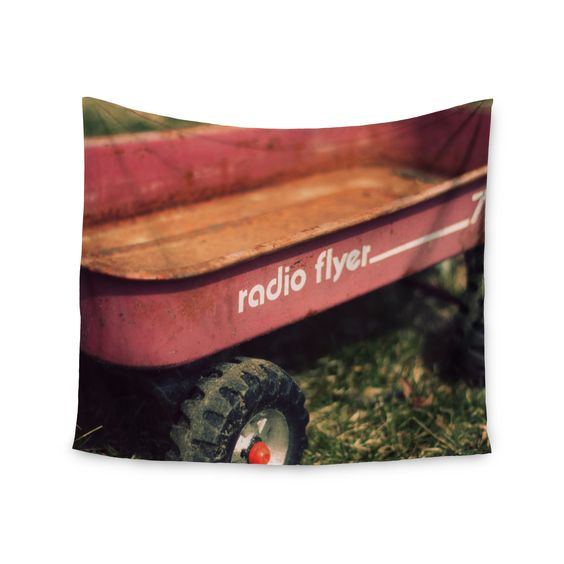 """Angie Turner """"Radio Flyer"""" Red White Wall Tapestry"""