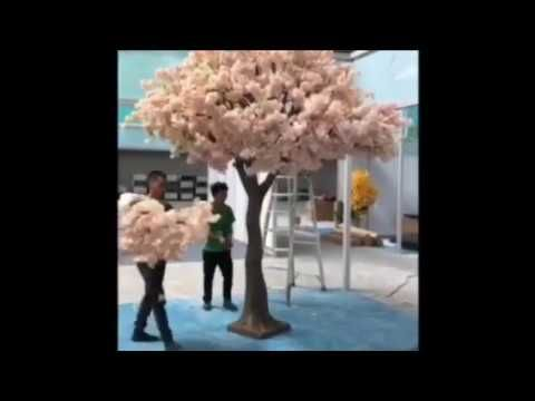 How To Easily Assemble Giant Fake Blossom Tree Without Any Tools Artificial Cherry Blossom Tree Cherry Blossom Tree Blossom Trees