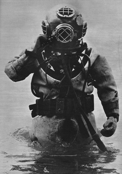 Old school diving.