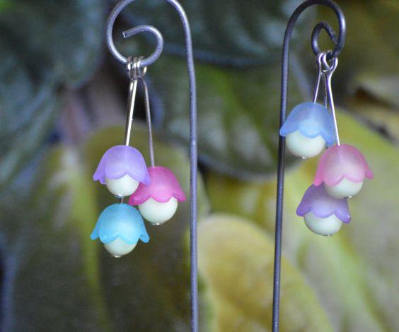 3 glow in the dark flower fairy lights lanterns pink by. Black Bedroom Furniture Sets. Home Design Ideas