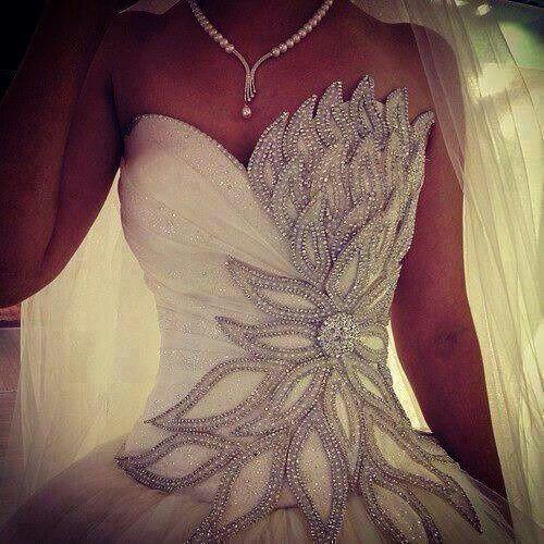 bling wedding dresses   Flower Bling Wedding Dress Bodice   Once Upon A Time