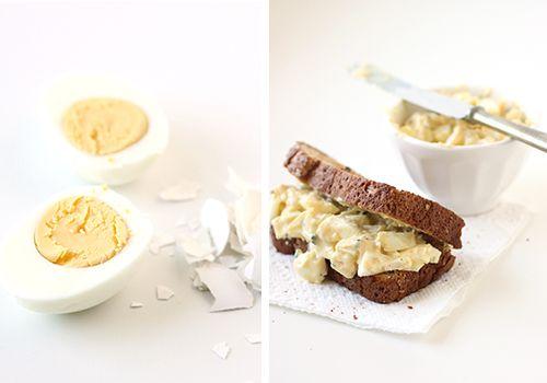 Mayo-Free Egg Salad  - Kitchen Originals | mint: Egg Salad Sandwiches, Guiltless Egg, Macaroni Salads, Large Eggs, Food Drink, 29 Egg