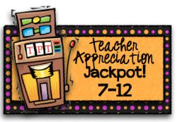 Teacher Appreciation Jackpot!  Everyone will have access to over 500$ worth of teacher resources on May 6th!!!!  Come follow along!