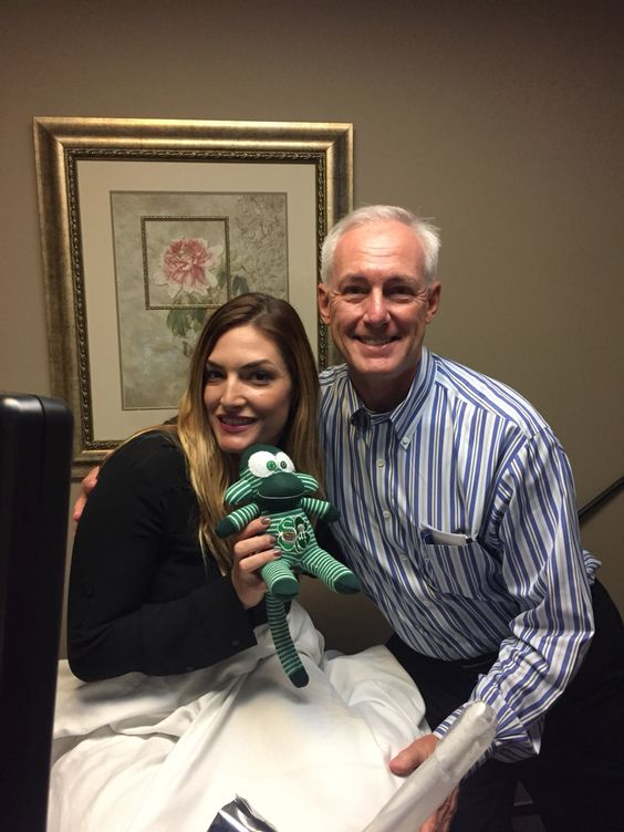 Our surrogate Cassandra with Dr. Hummel at San Diego Fertility Center