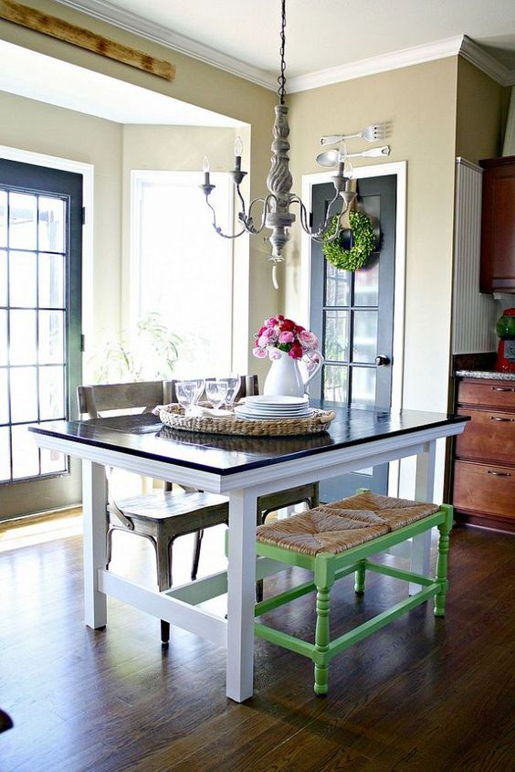 Ikea hacks farmhouse and farmhouse table on pinterest for Ikea farmhouse table hack