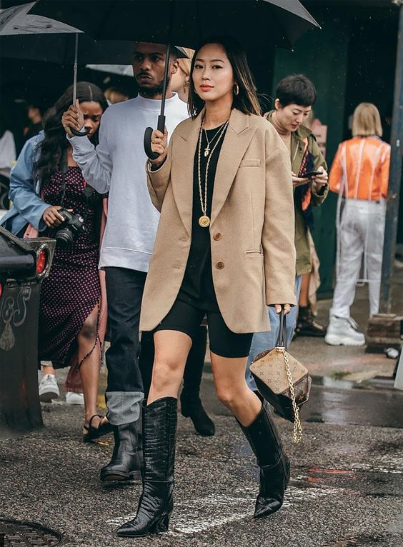 Sydne Style shows the best street style trends at new york fashion week 2018 with fashion blogger aimee song in cowboy boots #fashionweek #streetstyle #fashionblogger #nyfw #western