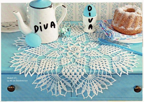 O cantinho da Diva e Familia: Naperon redondo branco
