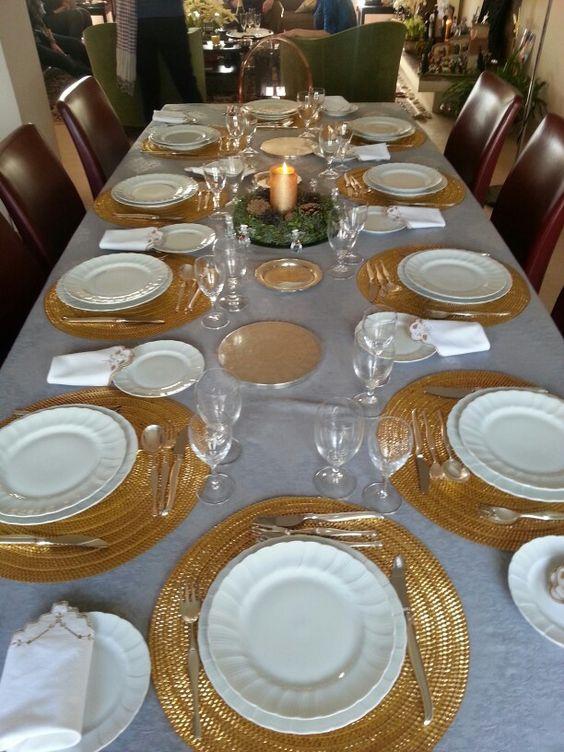 Mesa elegante para almorzar versailles navidad - Como decorar una mesa de navidad ...