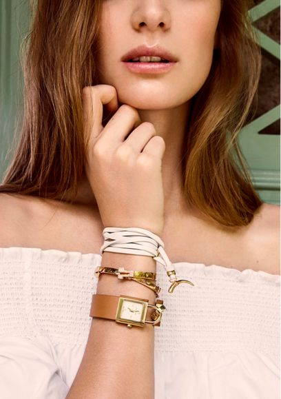 Tory Burch wrapped horn bracelet