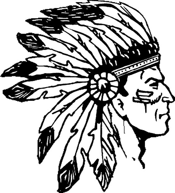 Native American Headdress Printable Coloring Pages Sketch