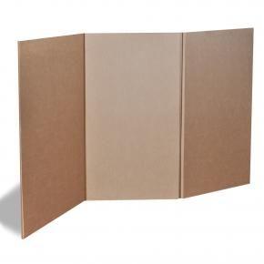 Biombo 3 paneles de carton exposiciones y pabellones - Biombo de carton ...