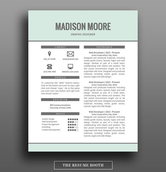 free cover letter resume design and words on