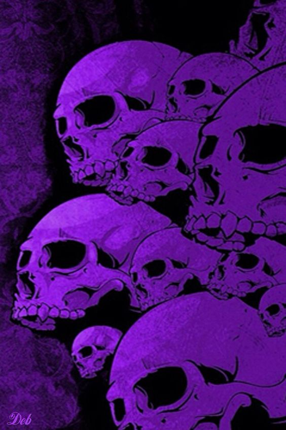 HALLOWEEN PURPLE SKULLS, IPHONE WALLPAPER BACKGROUND ...