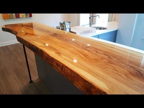How To Install A Live Edge Bar Counter Top Youtube Bar Countertops Wood Bar Top Live Edge Bar