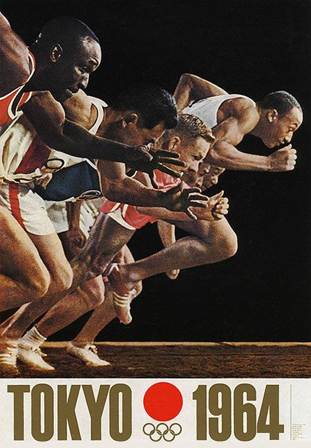 Tokyo Olympics 1964 Runners Poster