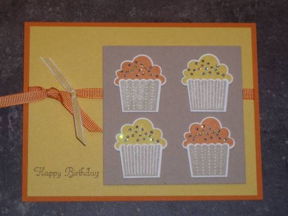 orange and yellow cupcakes by barbara1976 - Cards and Paper Crafts at Splitcoaststampers