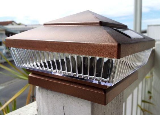 deck post lights decks and posts on pinterest. Black Bedroom Furniture Sets. Home Design Ideas