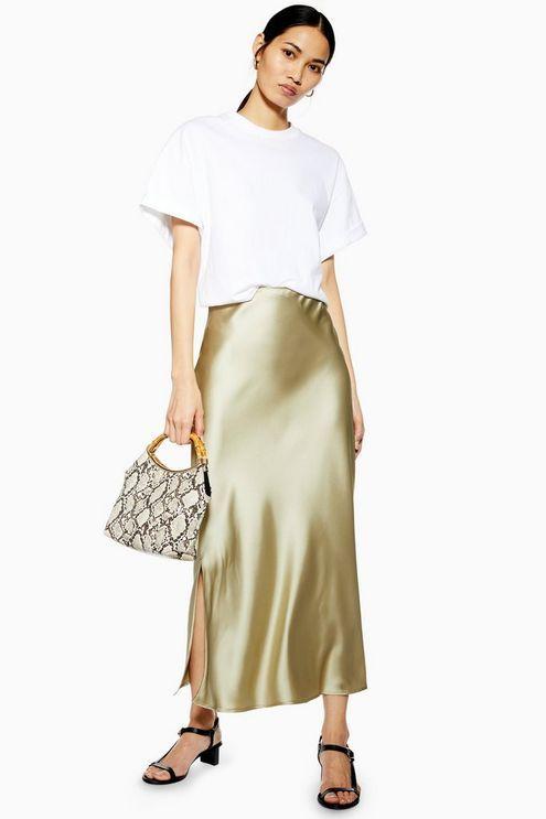 T Shirt, Zara Leather Skirt, Topshop