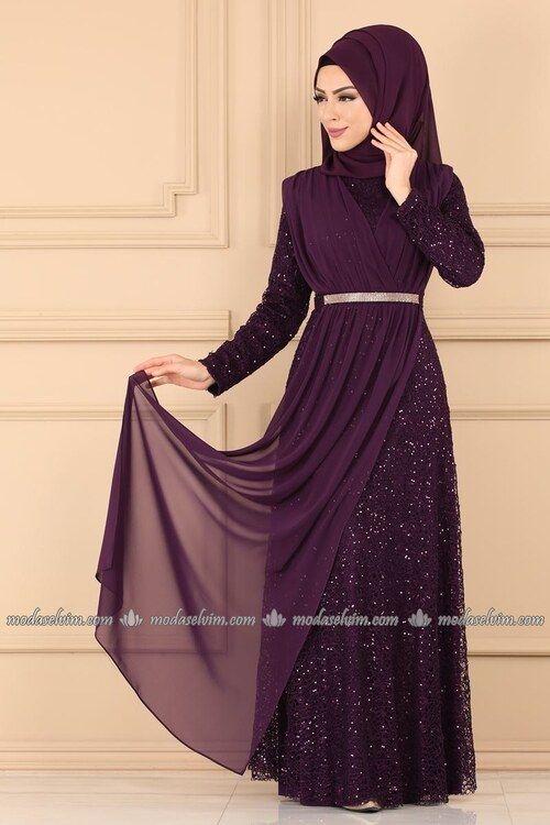 Modaselvim Abiye Kruvaze Detayli Tesettur Abiye 7360eh211 Murdum Elbiseler The Dress Moda Stilleri