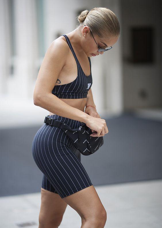 STYLECASTER | 13 Celeb-Approved Ways to Wear the Bike Shorts Trend | Jasmine Sanders