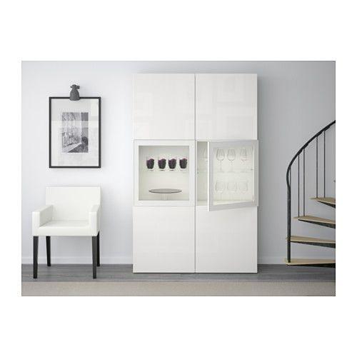 Ikea Vitrine Norden ~  glass doors  whiteSelsviken high glosswhite clear glass  IKEA