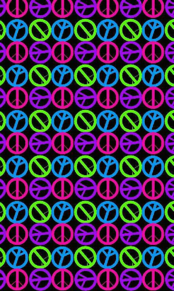 American Hippie Art ~ Peace Wallpaper | ☮ Art ~ Pattern ...