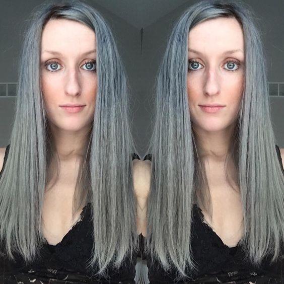 @jessraae  •  Thanks to @overtonecolor Christa can keep her silver locks looking fresh! Thanks for the selfie, love  @christalove20 #silverhair #kenrametallics #overtonecolor