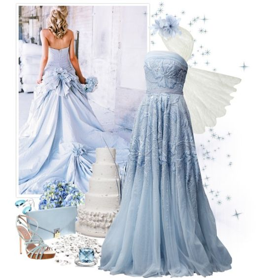 """Blue wedding~"" by mandymink on Polyvore"