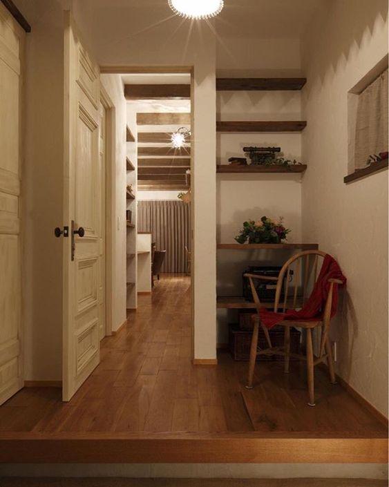玄関デザイン 玄関 家づくり 空間 棚 収納 飾り 間取り デザイン 新築
