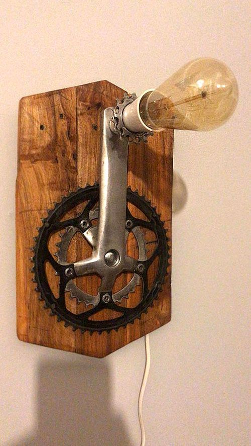 Fun Light Farmhouselamps In 2020 Recycled Bike Parts Wood