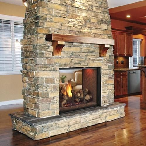 Double Sided Fireplace See Through, See Through Gas Fireplace Ideas