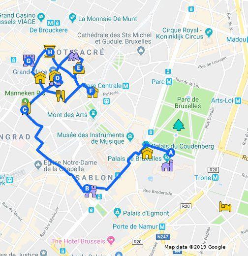 Itineraire Un Weekend A Bruxelles Map
