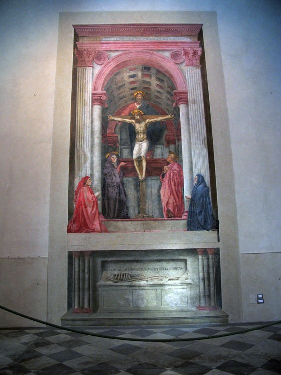 holy trinity by masaccio essay The holy trinity by masaccio was done approximately 1428 it is a superb example of masaccio's use of space and perspective it consists of two levels of unequal height.