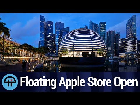 Floating Apple Store In Singapore Opens Youtube In 2020 Apple Store Singapore Floating