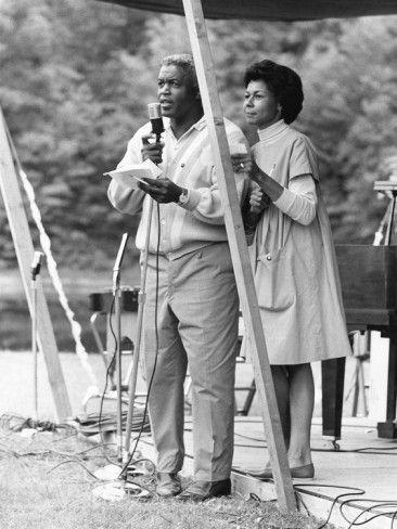 Jackie Robinson and wife Rachel, 1964.