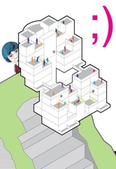 Plan of rokko housing